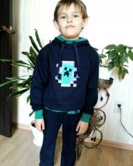 Sweater with Minecraft Creeper in your door embroidery design