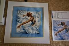 Ballerina photo stitch embroidery