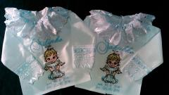 Baptisma set with cute angel embroidery design