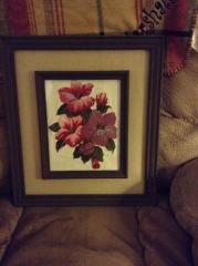 Hibiscus photo stitch free embroidery
