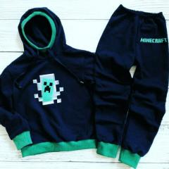 Hoodie with Minecraft Creeper in your door embroidery design