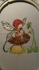 Mushroom fairy machine embroidery design