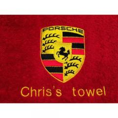 Porsche logo machine embroidery design