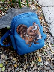 Backpack with Scrat big embroidery design