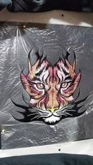 Tribal tiger embroidery design