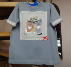 Baby shirt with friends free embroidery design