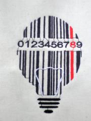 Barcode lamp free embroidery design