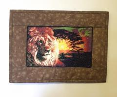 Carpet with lion photo stitch free embroidery design