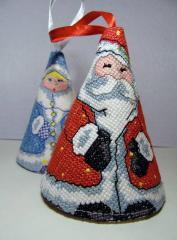 Christmas set with 3d cross stitch free embroidery