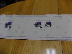 Christmas snowgame placemat cross stitch free embroidery design