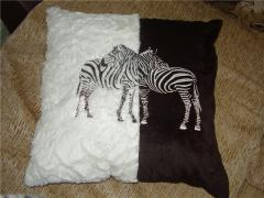 African style cushion with two zebras free embroidery design