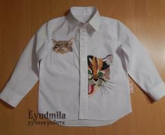 Embroidered shirt with cats free designs