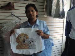 Embroidered two dogs free design