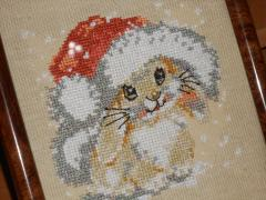 Placement with bunny cross stitch free embroidery
