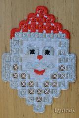Santa Claus  hardanger free embroidery design