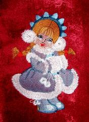 Snow maiden free embroidery design