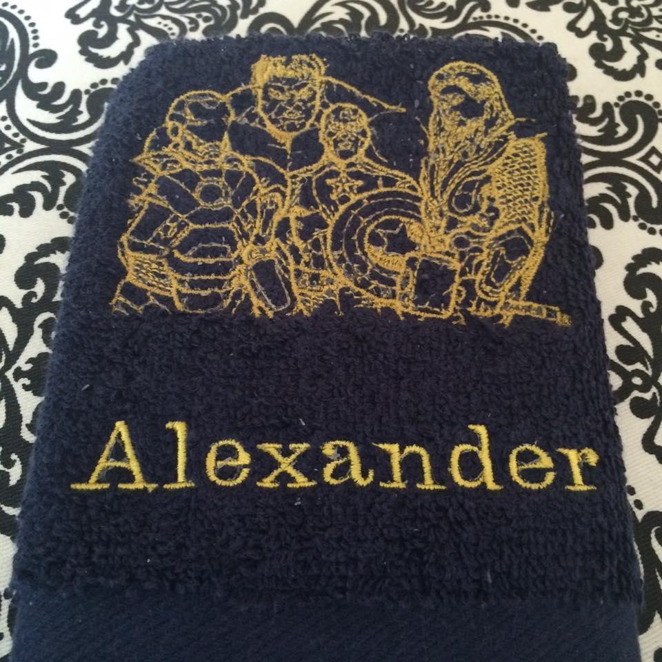 Avengers machine embroidery design