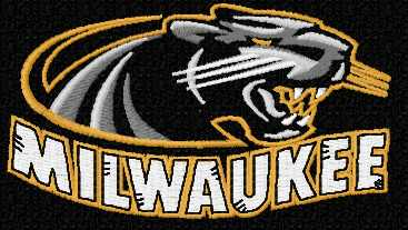 Milwaukee Panthers logo embroidery design