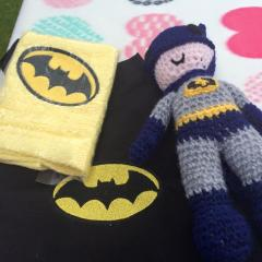 Towels with Batman logo embroidery design