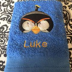 Towel with Bomb embroidery design