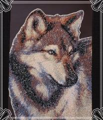 Wolf photo stitch free embroidery