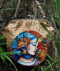 Bag with nabira photo stitch embroidery