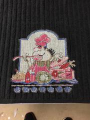 Chef cross stitch free embroidery design