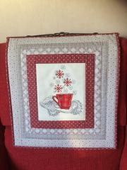 Christmas carpet with free cross stitch embroidery design