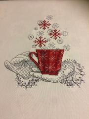 Cup full christmas wishes cross stitch free embroidery design