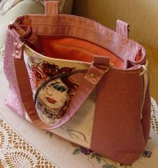 Embroidered bag with magic woman design