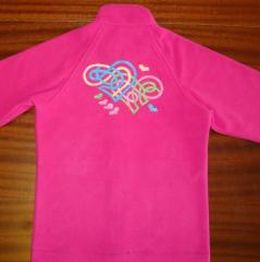 Embroidered shirt with abstract heart free design