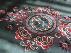 Leather decoration embroidery