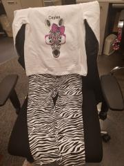 Zebra embroidered outfit