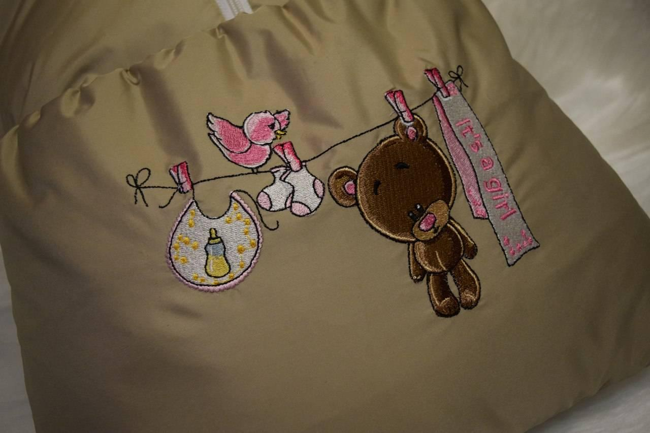 Small bag with Its a boy embroidery design