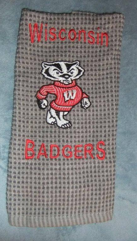 Bucky the Badger machine embroidery design