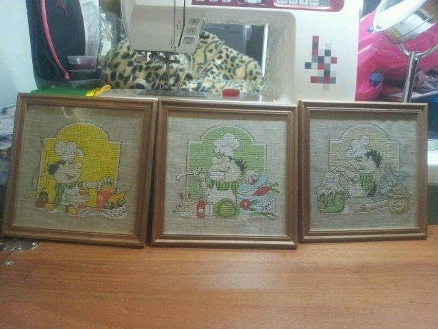 Cooking cross stitch set with free embroidery designs