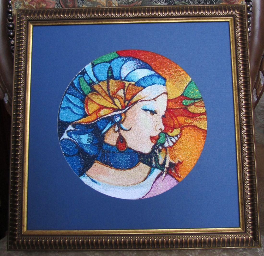 Framed nabira photo stitch free embroidery