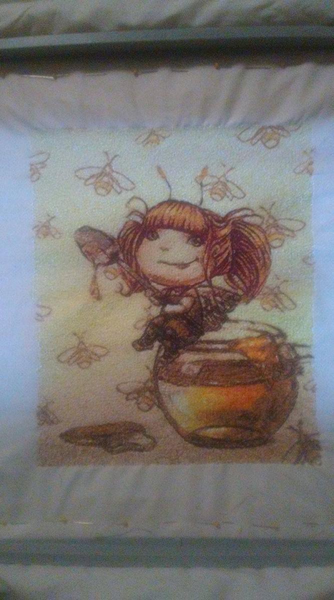 Honey fairy photo stitch free embroidery design