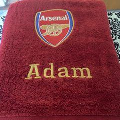 Arsenal Football Club logo machine embroidery design