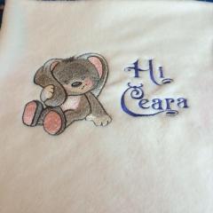 Cute bunny girl embroidery design