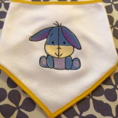 Napkin with Eeyore mini embroidery design