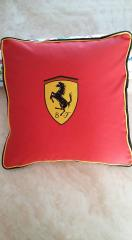 Cushion with Ferrari Logo machine embroidery design