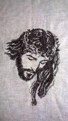 Jesus Christ cross stitch free embroidery design