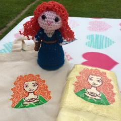 Towels with Merida embroidery design