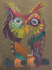 Owl in color free embroidery design