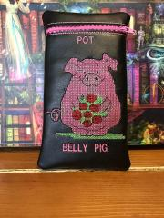 Embroidered pot in the belly pig free design