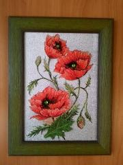Framed flowers photo stitch free embroidery