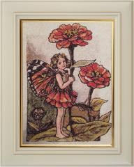 Framed poppies girl photo stitch free embroidery