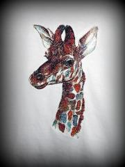 Giraffe photo stitch free embroidery