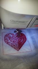 Heart cross stitch free embroidery
